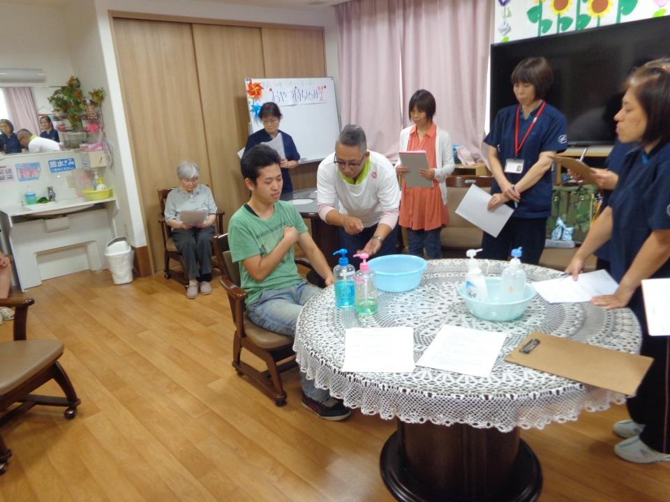 2018年8月24日 スタッフ勉強会(ケアプラン/入浴介助について)
